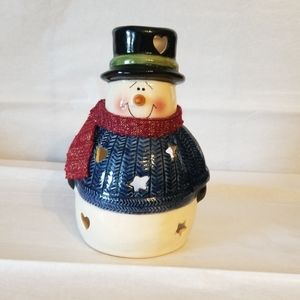 Other - Snowman votive candle holder